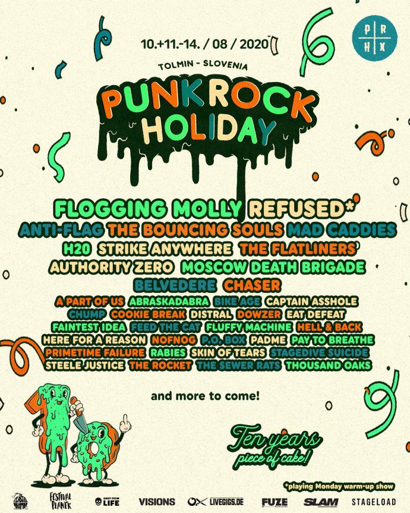 Die ersten Bands fürs Punk Rock Holiday 2020
