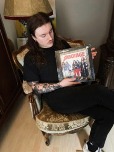 Patrick mit Black Sabbath-Platte