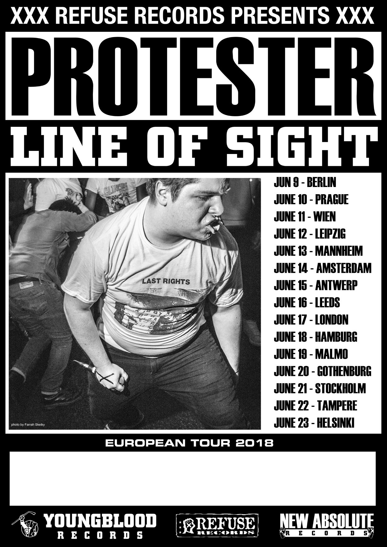 Protester & Line Of Sight - Europa-Tour 2018