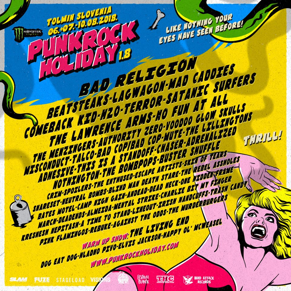 Punk Rock Holiday 2018 - LIne-Up