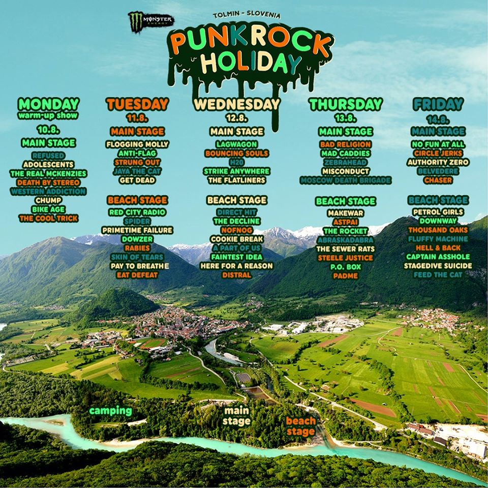 Punk Rock Holiday Day 2020 - Tageseinteilung