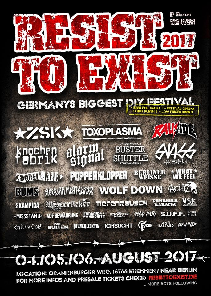 Resist To Exist 2017 Line-Up