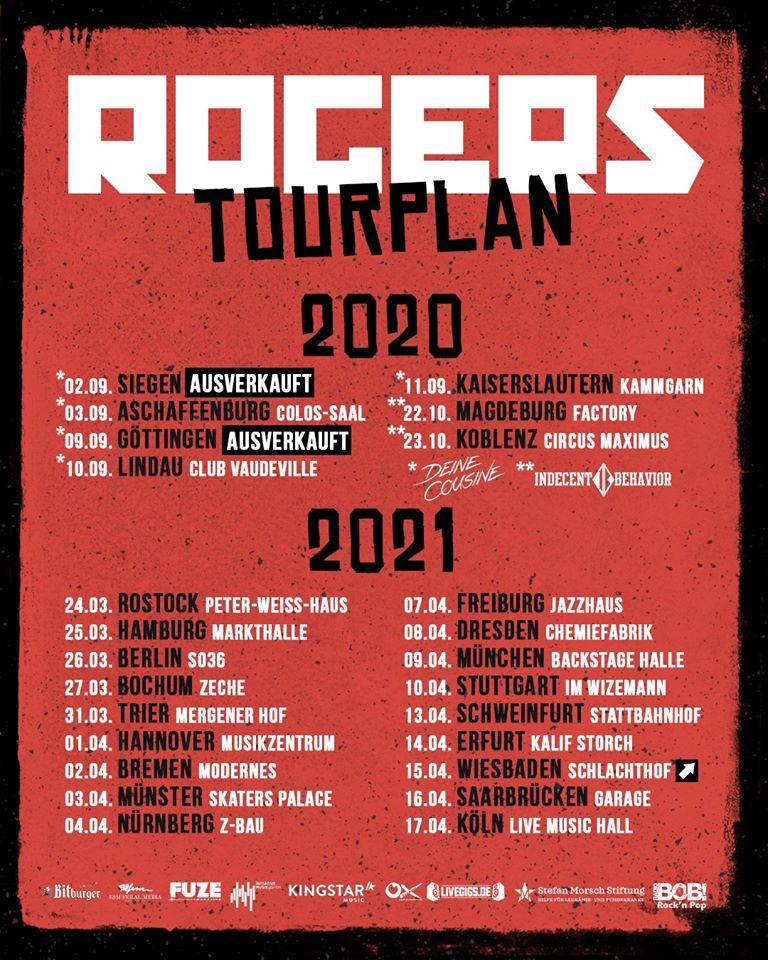 Rogers - Neue Tourtermine