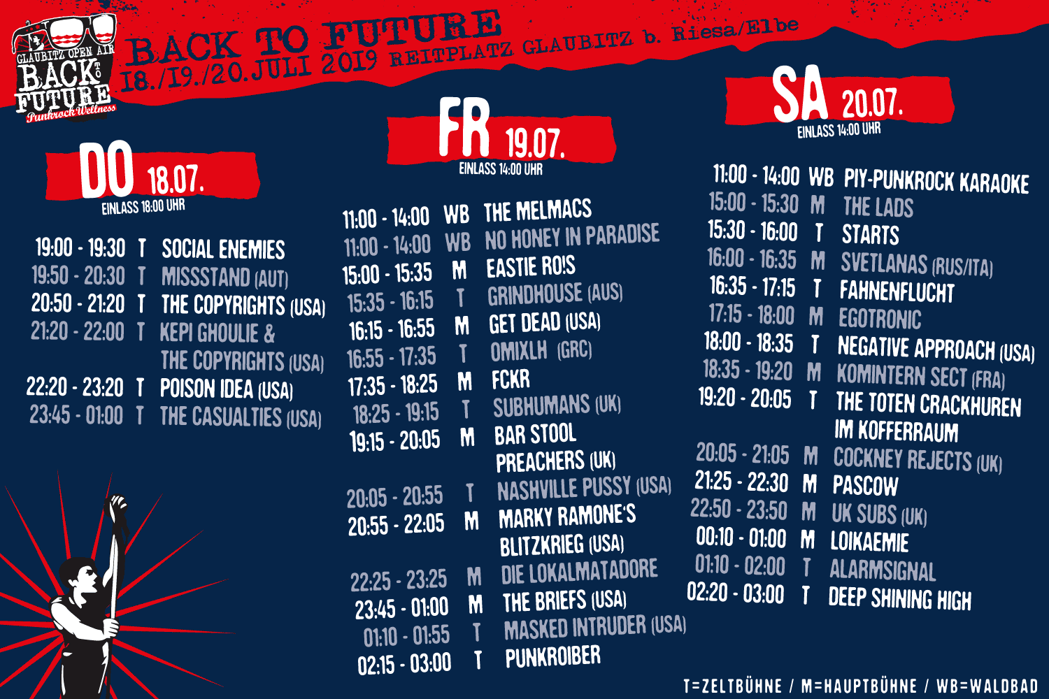 Running Order - Back To Future 2019