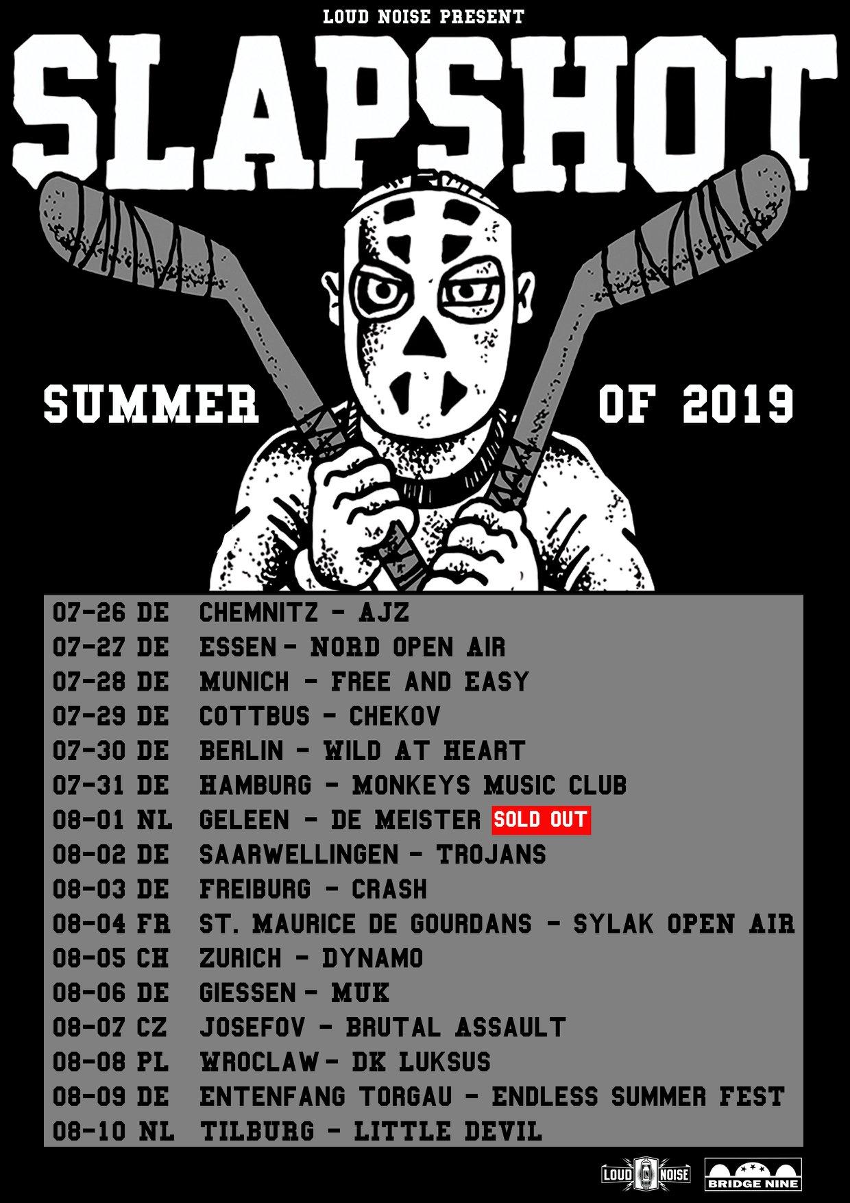Slaptshot - Europa-Tour 2019