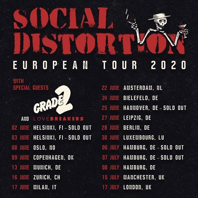 Social Distortion - Europa-Tour 2020