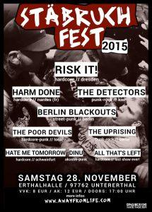 Stäbruch Fest 2015 Flyer