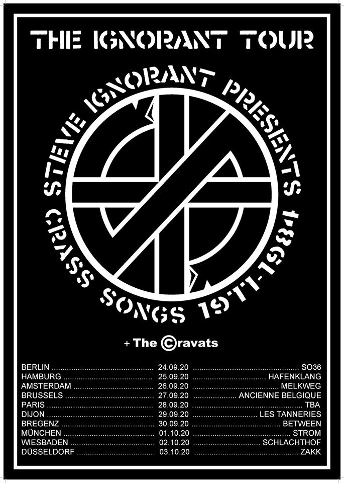 Steve Irgnorant presents Crass Songs - Tour 2020