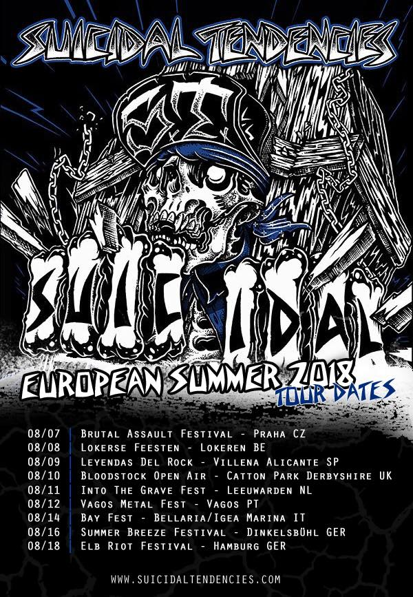 Suicidal Tendencies - Europa-Tour 2018