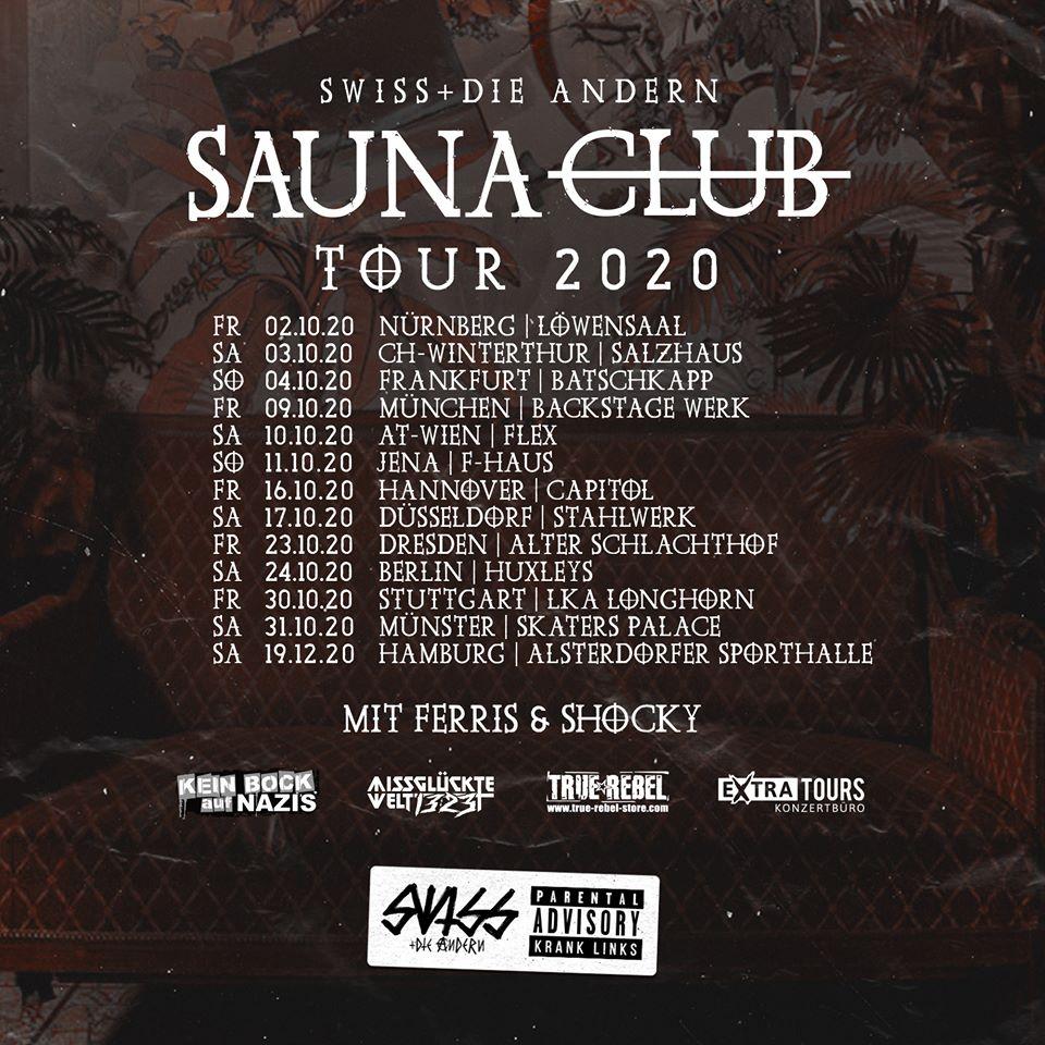 Swiss & Die Andern - Sauna Club Tour 2020
