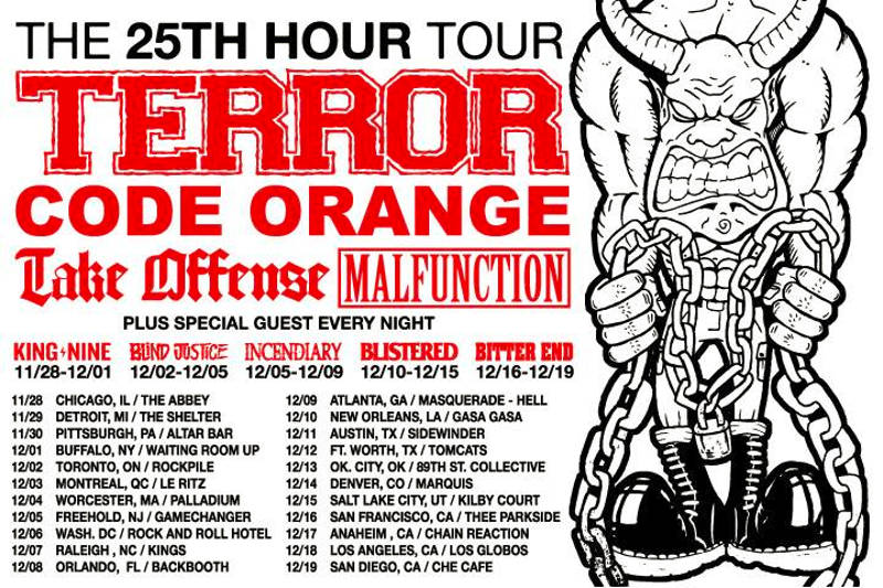 Terror - 25th Hour Tour - Code Orange