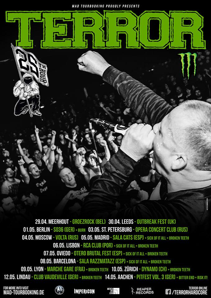 Terror - Europa Tour Mai 2016