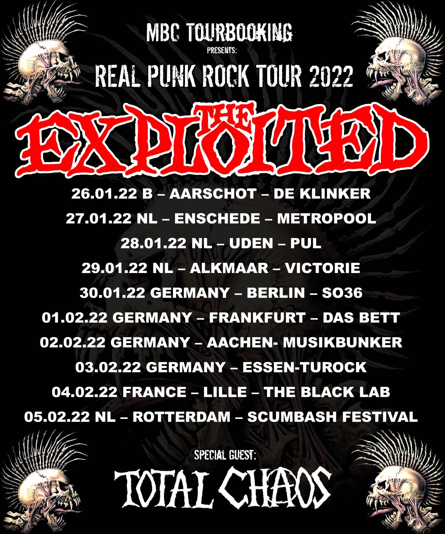 The Exploited & Total Chaos - Europa-Tour 2022