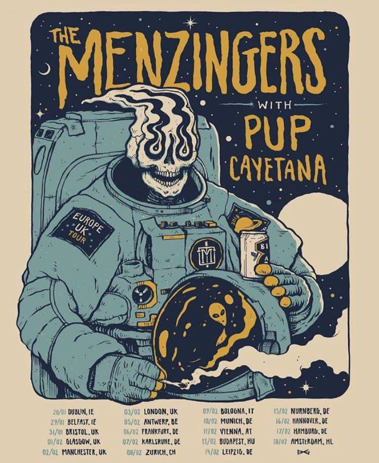 The Menzingers, Pup, Cayetana