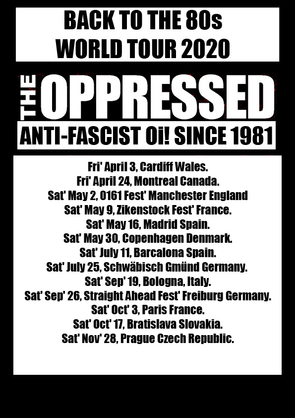 The Oppressed - Tour 2020