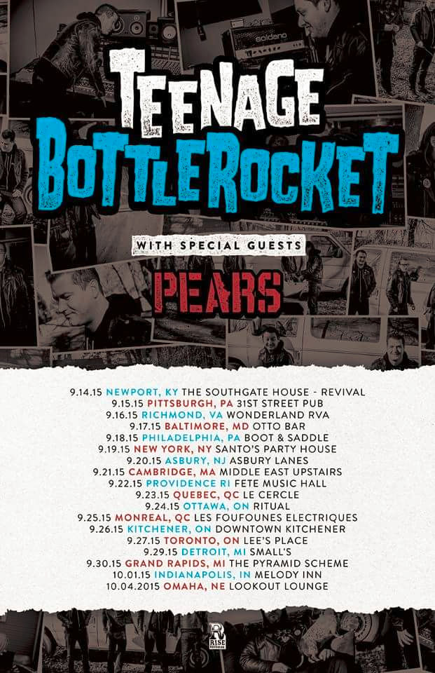 The Pears - Teenage Bottlerocket - Tour 2015