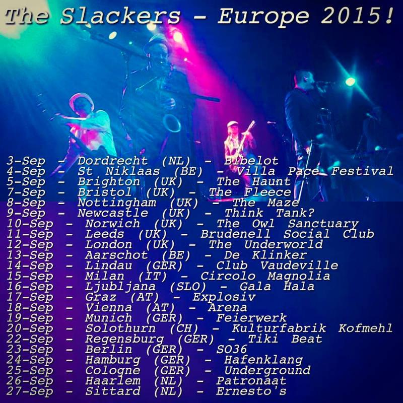 The Slackers- Europa 2015
