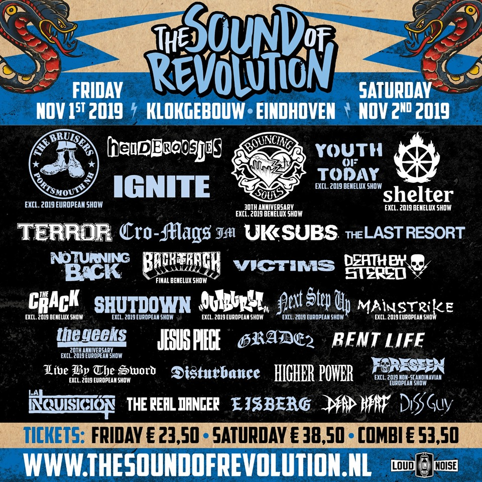 The Sound Of Revolution 2019 - Line-Up