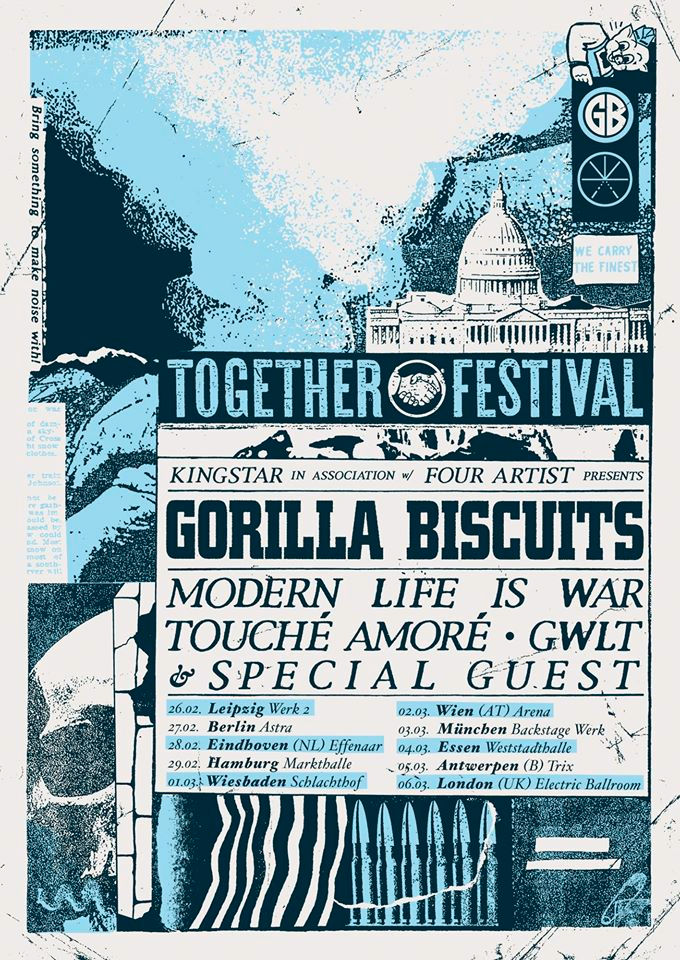 Together Tour - Gorilla Bisquits - Europa