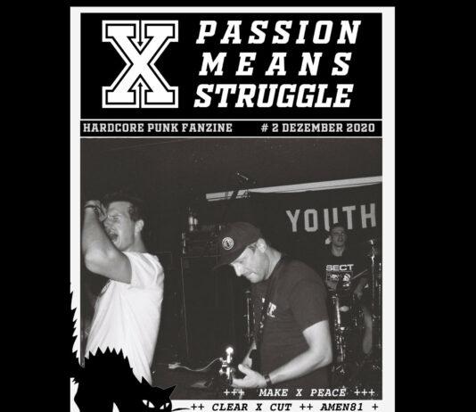Passion Means Struggle Fanzine #2 Cover