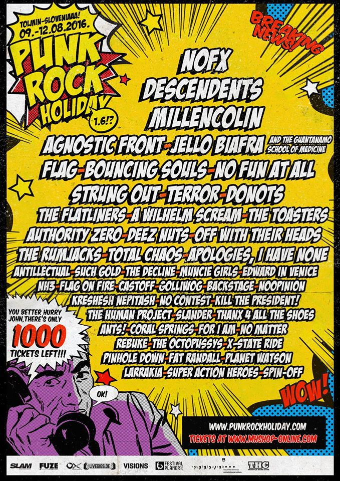 punk rock holiday - line up