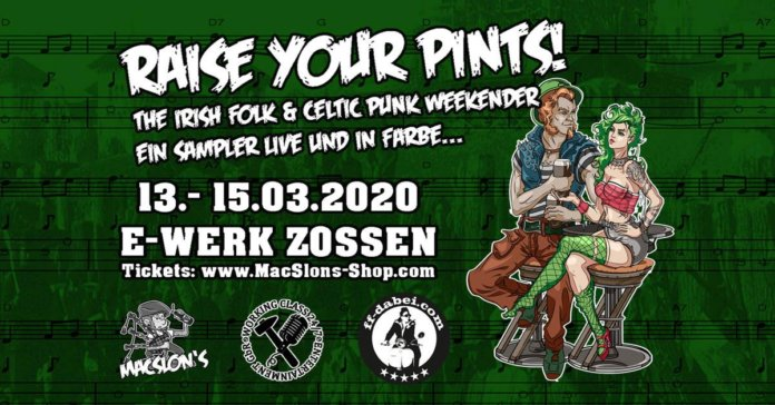 IRISH FOLK - CELTIC PUNK WEEKENDER präsentiert Line-Up