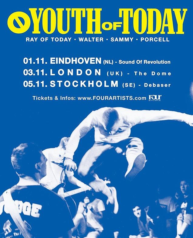 Youth Of Today - Europa-Tour 2019
